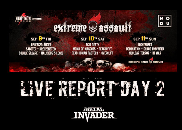 Extreme Assauly, Death, Progressive, Brutal Death, Groove, Deacidified, Dead Human Factory, Acid Death, Overcliff, Womb Of Maggots, Modu, 2016, News, Reports