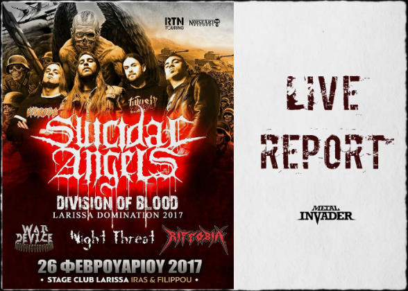 LIve,Stage Larissa,Live,Reports,News,2017,Riffobia,Night Threat,War Device,Suicidal Angels,Thrash