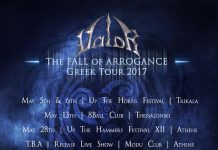 Greece,Power Metal,Heavy Metal,The Fall of Arrogance Greek Tour 2017,Pitch Black Records,Valor,News,2017,