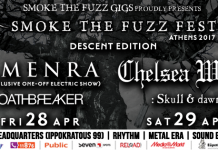 Smoke the Fuzz Fest, Descent edition,Neofolk,Dark, Alternative,News,Cheslea Wolfe, Gagarin 205, Skull & Dawn,Oathbreaker,Amenra, Piraeus 117 Academy, Live,Time Schedule,2017,