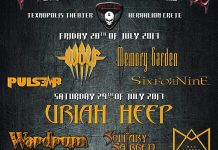 Wolf,Memory Garden,Pulse R,SiXforNine,Uriah Heep,Wardrum,Solitary Sabred,Mad Street, News,2017,Official Program, Over The Wall Festival, Greece,Heavy Metal,Rock,