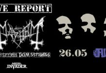 De Mysteriis Dom Sathanas,News,Mayhem,Norway,Season Of Mist,Black Metal,C.T.S. Productions, 3 Shades Of Black,Live,Event, Fuzz Live Club, Fix Factory