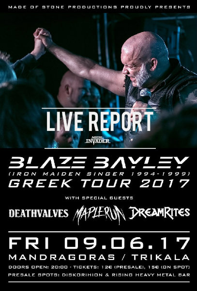 Made of Stone Productions, ,The Nephilim Store,3P Lab, Blaze Bayley, Mini Greek Tour,Reports,News,2017,Thessaloniki, Eightball