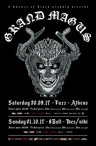 Grand Magus, Dark Nightmare, Sacral Rage, Serpent Lord, The Mound, Eightball, Fuzz Live Music CLub, Heavy, Epic, 2017, News, Live