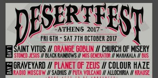Sadhus, Allochiria,Krause,Radio Moscow,Graveyard, Colour Haze,Black Rainbows,Mos Generator,Mahakala, Bus,Church Of Misery,Stoned Jesus, Desertfest Athens 2017, News, Reports,2017,Stoner Rock, Rock, Heavy Metal, Psychedelic Rock, Metal,Classic Rock, Desert Rock,Saint Vitus, Orange Goblin,Planet Of Zeus, Puta Vulcano,Greece,
