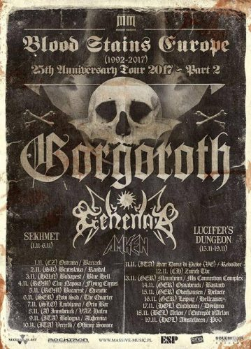 Amken, News,2017, Greece, Gorgoroth, Gehenna, Thrash Metal, Black Metal, European Tour,Merciless, Kyttaro Live Club,