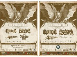 Vermingod, Foray Between Ocean ,Aetherian,Show Your Face, News,2018,Con Artist,This Is Hell Festival,Silver Dollar ,Stage Club