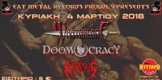 Abyssus, Live, Death Metal,Kyttaro, Doomocracy,Wrathblade,Heavy Metal,Eat Metal Records