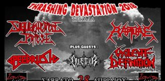 Thrashing Devastation 2018 mini tour,Slaughtered Priest, Rapture, Speedrush, Violent Definition, Oletir, Σουίτα, Trikala, Events,